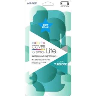 Switch Lite用クリアTPUカバー ターコイズ ALG-NSMTCT 【Switch Lite】