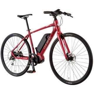 【eバイク】700x35C型 電動アシストクロスバイク AVIATOR-E(LG RED/470サイズ/外装8段変速) 【組立商品につき返品不可】