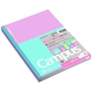 【限定】キャンパスノート5色パックマカロンカラーA罫