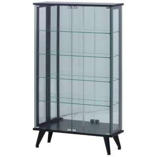 ガラスディスプレイラック 5段 ブラック(高さ134cm)