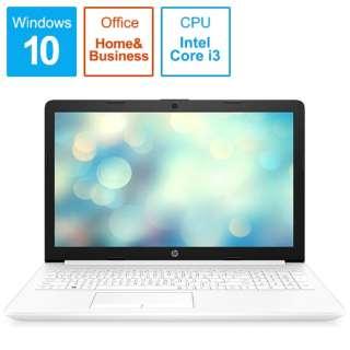 9AJ75PA-AAAB ノートパソコン 15-da2021TU-OHB ピュアホワイト [15.6型 /intel Core i3 /HDD:1TB /メモリ:8GB /2019年12月モデル]