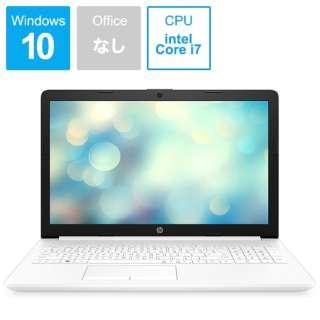 9AK25PA-AAAA ノートパソコン 15-da2026TX ピュアホワイト [15.6型 /intel Core i7 /HDD:1TB /SSD:128GB /メモリ:8GB /2019年12月モデル]