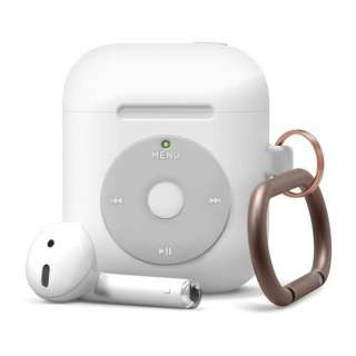 elago エラゴ AW6 HANG CASE for AirPods /AirPods 2nd Charging / AirPods 2nd Wireless (White) EL_APACSSC6H_WH ホワイト