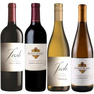 アメリカトップワインメーカーの飲み比べセット (750ml/4本)【ワインセット】