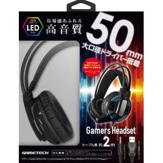 ゲーマーズヘッドセット ブラック YF2172 【PS4/Switch】