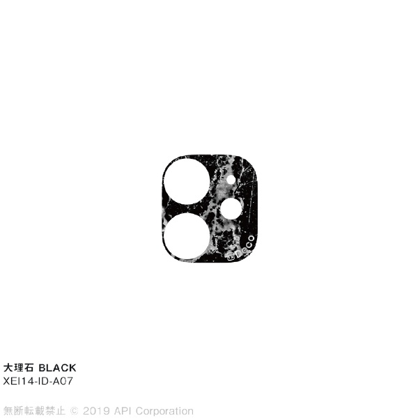is Deco 大理石 BLACK for iPhone 11 EYLE XEI14-ID-A07