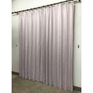 2枚組 ドレープカーテン シーバス(100×200cm/ピンク)