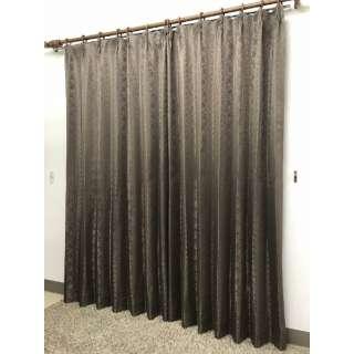 2枚組 ドレープカーテン シーバス(100×135cm/ブラウン)