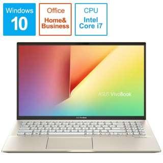S531FA-BQ230TS Office搭載ノートパソコン VivoBook S15 モスグリーン [15.6型 /intel Core i7 /HDD:1TB /SSD:512GB /メモリ:16GB /2019年12月モデル]