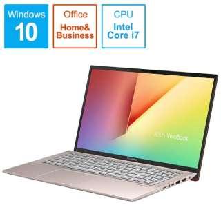 S531FA-BQ231TS Office搭載ノートパソコン VivoBook S15 パンクピンク [15.6型 /intel Core i7 /HDD:1TB /SSD:512GB /メモリ:16GB /2019年12月モデル]