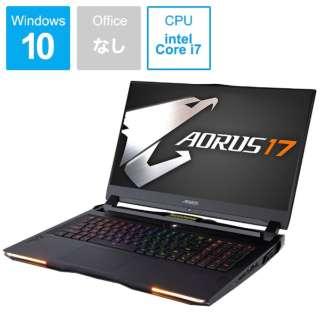 WA-7JP1130SH ゲーミングノートパソコン AORUS 17 ブラック [17.3型 /intel Core i7 /SSD:512GB /メモリ:16GB /2019年12月モデル]