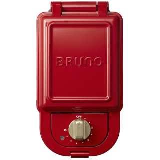 BOE043RD ホットサンドメーカー シングル BRUNO レッド