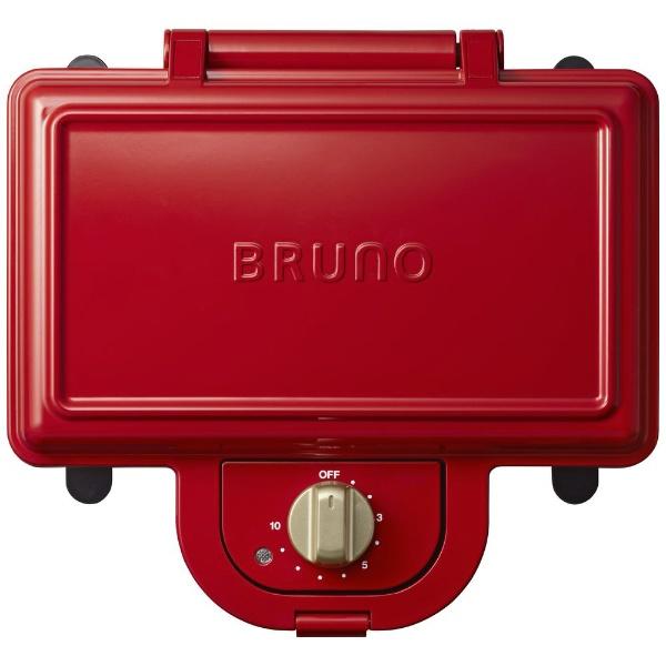 イデア ブルーノ BOE044-RD レッド ホットサンドメーカー ダブル