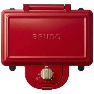 BOE044RD ホットサンドメーカー ダブル BRUNO レッド