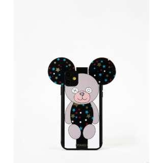 Teddy Case Stars B&W Stripes for iPhone11 スターストライプテディ IPHORIA(アイフォリア) 17239