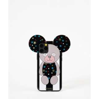 Teddy Case Stars B&W Stripes for iPhone 11Pro テディスターズブラック&ホワイトストライプ IPHORIA(アイフォリア) 17241
