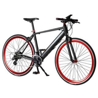 【eバイク】700×28C型 折りたたみ電動アシスト自転車 E-MAGIC700(マットブラック/外装16段変速) E-MAGIC700【2020年モデル】 【組立商品につき返品不可】