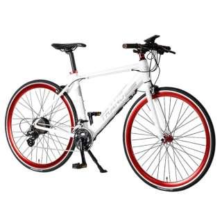 【eバイク】700×28C型 折りたたみ電動アシスト自転車 E-MAGIC700(ホワイト/外装16段変速) E-MAGIC700【2020年モデル】 【組立商品につき返品不可】