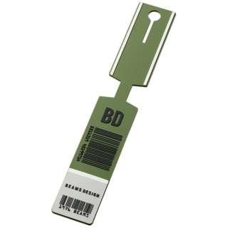 BEAMS DESIGN ラゲッジタグ(バーコード) カーキ GW-BD51-025