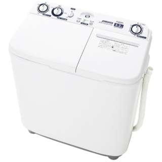 AQW-N52BK-W 2槽式洗濯機 ホワイト [洗濯5.2kg /上開き]