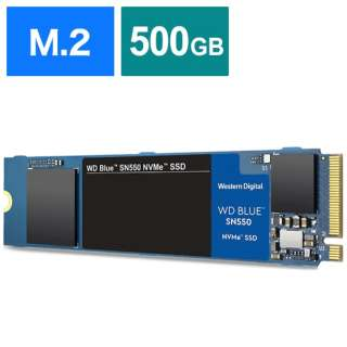 WDS500G2B0C 内蔵SSD WD BLUE SN550 [M.2 /500GB]