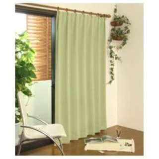 2枚組 ドレープカーテン モンブラン(100×178cm/ライトグリーン)