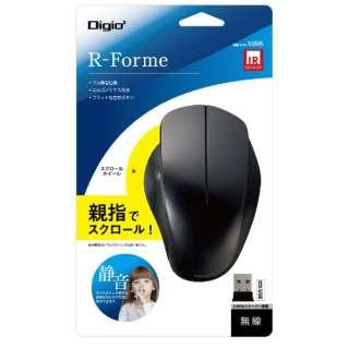マウス 親指スクロール ブラック MUS-RIT168BK [IR LED /無線(ワイヤレス) /3ボタン /USB]