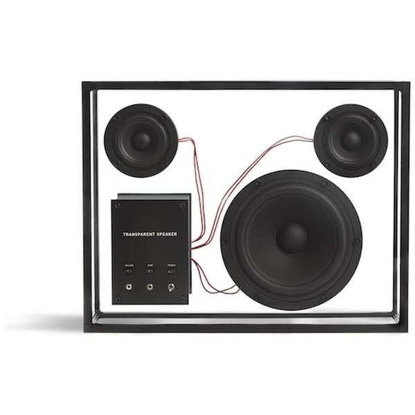 TPS-01 ブルートゥーススピーカー TRANSPARENT SPEAKER ブラック [Bluetooth対応]