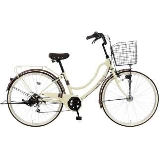 26型 自転車 FLOATMIX フロートミックス(ベージュ/外装6段変速)MK-20-039【2020年モデル】 【組立商品につき返品不可】