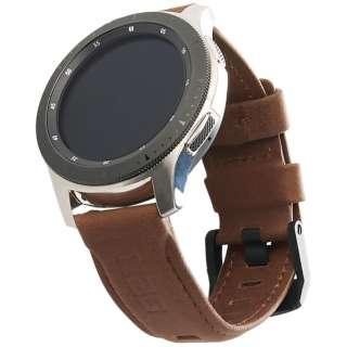 UAG社製 Galaxy Watchバンド GalaxyWatch 46mm用 LEATHERシリーズ(ブラウン) UAG-RGWLL-BR