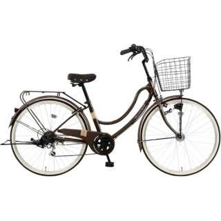 26型 自転車 FLOATMIX フロートミックス(ダーウブラウン/外装6段変速)MK-20-039【2020年モデル】 【組立商品につき返品不可】