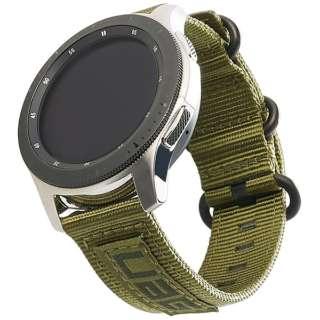 UAG社製 Galaxy Watchバンド GalaxyWatch 46mm用 NATOシリーズ(オリーブドラブ) UAG-RGWLN-OD