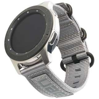 UAG社製 Galaxy Watchバンド GalaxyWatch 46mm用 NATOシリーズ(グレー) UAG-RGWLN-GR