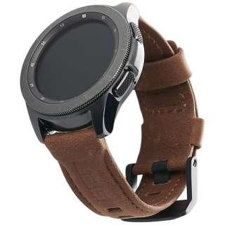 UAG社製 Galaxy Watchバンド GalaxyWatch 42mm用 LEATHERシリーズ(ブラウン) UAG-RGWSL-BR