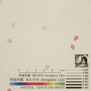 〔各種プリンタ〕 コピーができる和紙 切り紙入り紙 0.16mm(A4・20枚) さくら No.45