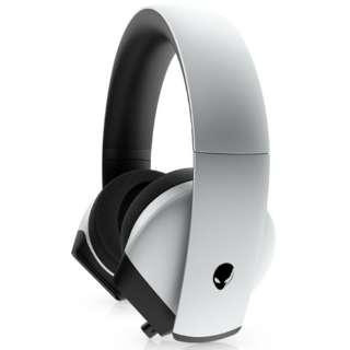 AW510H-L ゲーミングヘッドセット ALIENWARE ルナライト [φ3.5mmミニプラグ /両耳 /ヘッドバンドタイプ]
