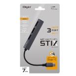 UH-C2493GY USB-C → USB-A 変換ハブ グレー [USB2.0対応 /3ポート /バスパワー]