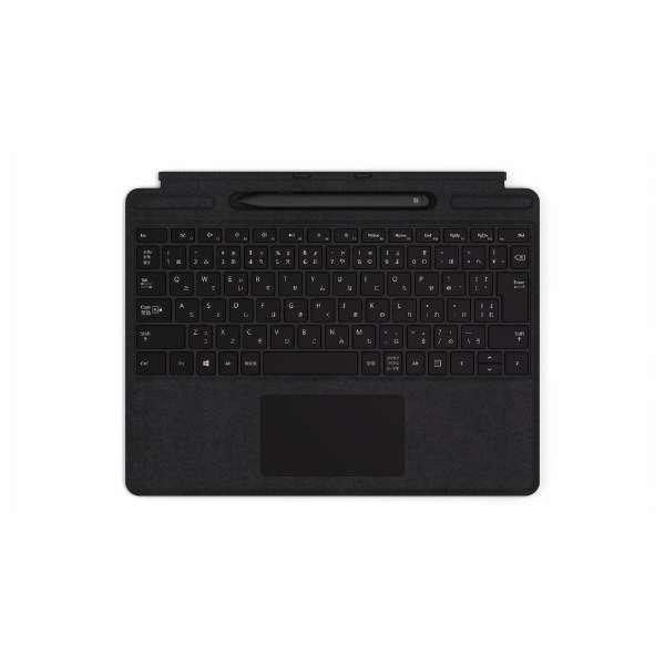 【純正】 Surface Pro X Signature キーボード スリム ペン付き ブラック QSW-00019