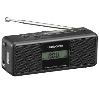 手回しラジオライト ブラック RAD-M799N [AM/FM /ワイドFM対応]