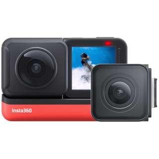 レンズ交換対応アクションカメラ [Insta360 ONE R ツイン版] 360度モジュール + 4K広角モジュール CINAKGP/A [4K対応 /防水]