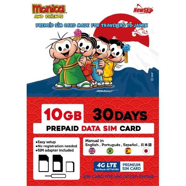 ナノSIM ソフトバンク回線「MonicaSIM 10GB/30Days Prepaid」 NS-MS10G30D-MO