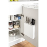 プレート 包丁&キッチンばさみ差し(Kitchen Knife & Kitchen Scissors Holder Plate) ホワイト 3843