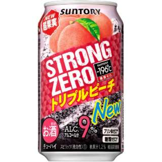 -196℃ストロングゼロ トリプルピーチ 350ml 24本【缶チューハイ】