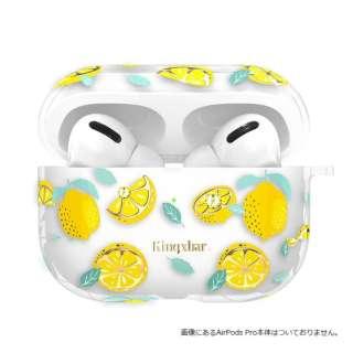 KingXbar AirPodsPro対応ケース スワロフスキー使用 フルーツ柄 Lemon ソフトケース KingXbar レモン KXB-FSLM