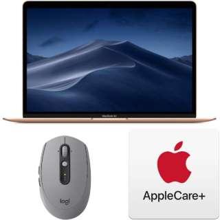 ノートパソコンセット3点 [Macノート] (MacBook Air、マウス、AppleCare) ゴールド色