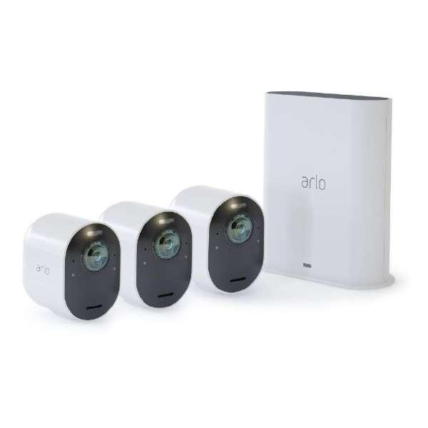 Arlo Ultra カメラ3台モデル VMS5340-100APS[4K /暗視対応 /有線・無線 /屋外対応] VMS5340-100APS