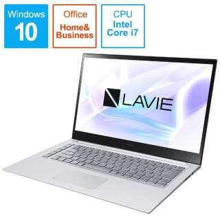 PC-LV750RAS ノートパソコン LAVIE VEGA(LV750/RA 有機EL 4K対応) アルマイトシルバー [15.6型 /intel Core i7 /Optane:32GB /SSD:512GB /メモリ:8GB /2020年春モデル]