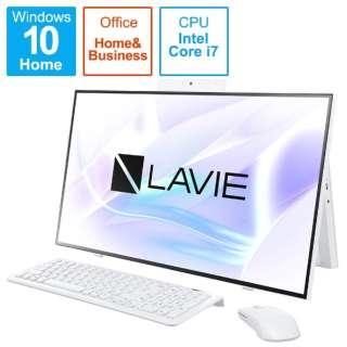 PC-HA970RAW デスクトップパソコン LAVIE Home All-in-one(HA970/RA ダブルチューナ搭載) ファインホワイト [27型 /HDD:3TB /SSD:256GB /メモリ:8GB /2020年春モデル]