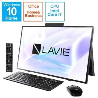 PC-HA970RAB デスクトップパソコン LAVIE Home All-in-one(HA970/RA ダブルチューナ搭載) ファインブラック [27型 /HDD:3TB /SSD:256GB /メモリ:8GB /2020年春モデル]