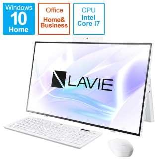 PC-HA700RAW デスクトップパソコン LAVIE Home All-in-one(HA700/RA) ファインホワイト [27型 /SSD:512GB /メモリ:8GB /2020年春モデル]